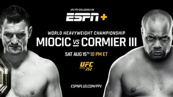 ESPN+ TV Spot, 'UFC 252: Miocic vs. Cormier' Song by Pop Smoke - 552 commercial airings