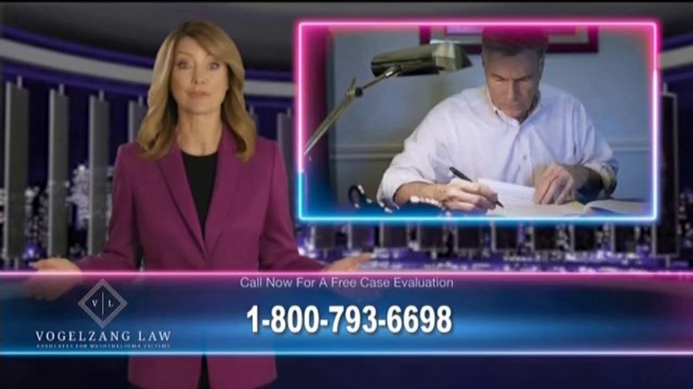 Vogelzang Law TV Commercial, 'Asbestos Lawsuit' - iSpot.tv