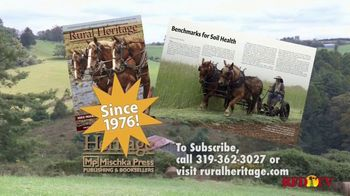Rural Heritage Magazine TV Spot, \'RFD: Farming and Logging\'