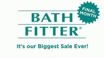 Bath Fitter Biggest Sale Ever TV Spot, 'Final Month: Shower You've Always Wanted' - Thumbnail 1