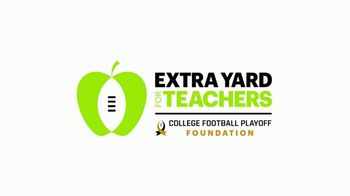 College Football Playoff Foundation TV Spot, 'Extra Yard for Teachers: Jean' Featuring Troy Aikman - Thumbnail 1