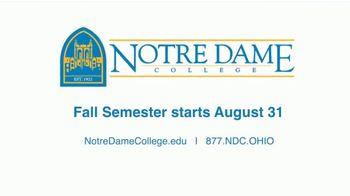 Notre Dame College Falcon Flex Program TV Spot, 'In Class and Online Degrees: Fall Semester' - Thumbnail 10