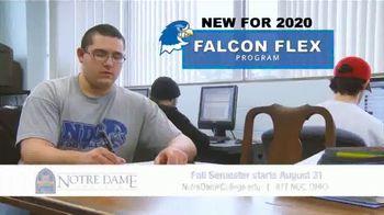 Notre Dame College Falcon Flex Program TV Spot, 'In Class and Online Degrees: Fall Semester' - Thumbnail 3