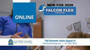 Notre Dame College Falcon Flex Program TV Spot, 'In Class and Online Degrees: Fall Semester' - Thumbnail 4