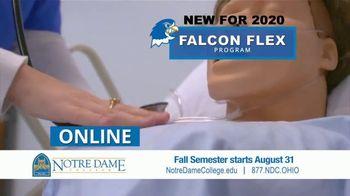 Notre Dame College Falcon Flex Program TV Spot, 'In Class and Online Degrees: Fall Semester' - Thumbnail 5