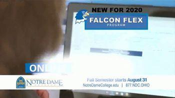 Notre Dame College Falcon Flex Program TV Spot, 'In Class and Online Degrees: Fall Semester' - Thumbnail 6