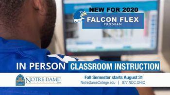 Notre Dame College Falcon Flex Program TV Spot, 'In Class and Online Degrees: Fall Semester' - Thumbnail 7