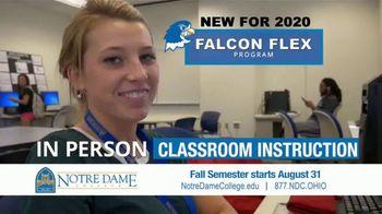 Notre Dame College Falcon Flex Program TV Spot, 'In Class and Online Degrees: Fall Semester' - Thumbnail 9