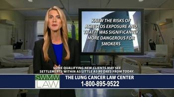 SWMW Law TV Spot, 'Diagnosed With Lung Cancer' - Thumbnail 6