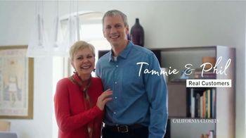 California Closets TV Spot, 'Tammie & Phil: 15% Off' - Thumbnail 1
