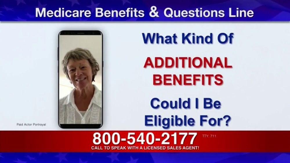 Medicare Benefits Helpline TV Commercial, 'Additional Benefits: Questions'