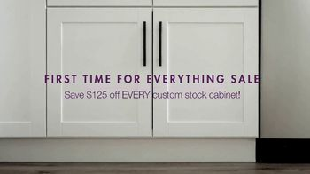 Cabinets To Go First Time for Everything Sale TV Spot, 'Time to Wow'
