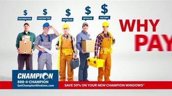 Champion Windows TV Spot, 'No Middleman, No Mark-Ups' - Thumbnail 1