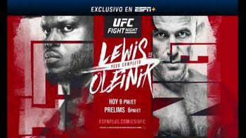 ESPN+ TV Spot, 'UFC Fight Night: Lewis vs. Oleinik' [Spanish] - 62 commercial airings