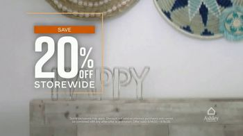 Ashley HomeStore TV Spot, 'Three Days Only: 20% Off' - Thumbnail 3