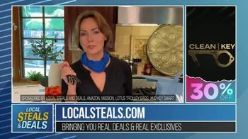 Local Steals & Deals TV Spot, 'Blink, Mission Cooling, Lotus Trolley & Key Smart' Featuring Lisa Robertson - Thumbnail 9