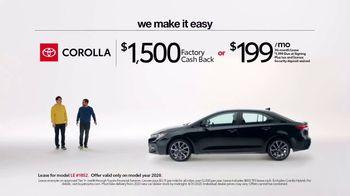 2020 Toyota Corolla TV Spot, 'Plain & Simple' [T2] - Thumbnail 1