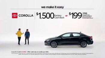 2020 Toyota Corolla TV Spot, 'Plain & Simple' [T2] - Thumbnail 2