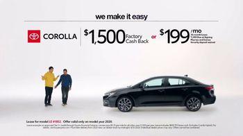 2020 Toyota Corolla TV Spot, 'Plain & Simple' [T2] - Thumbnail 3