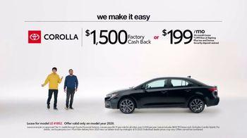 2020 Toyota Corolla TV Spot, 'Plain & Simple' [T2] - Thumbnail 4