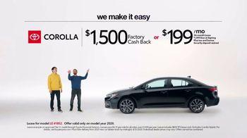 2020 Toyota Corolla TV Spot, 'Plain & Simple' [T2] - Thumbnail 5