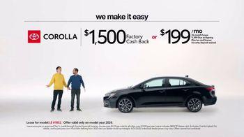 2020 Toyota Corolla TV Spot, 'Plain & Simple' [T2] - Thumbnail 6