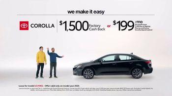 2020 Toyota Corolla TV Spot, 'Plain & Simple' [T2] - Thumbnail 7