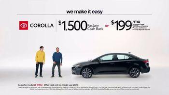 2020 Toyota Corolla TV Spot, 'Plain & Simple' [T2] - Thumbnail 8