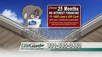 LeafGuard of Utah $99 Install Sale TV Spot, 'No Matter the Weather' - Thumbnail 7