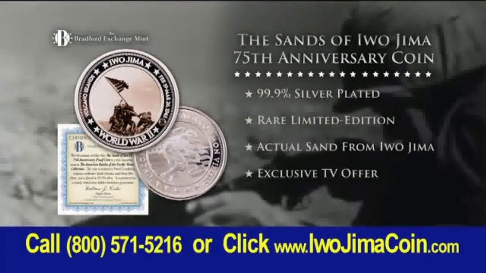 Bradford Exchange Mint Sands of Iwo Jima 75th Anniversary Coin TV Commercial, 'February 1945'