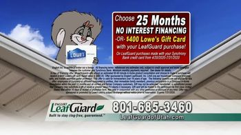 LeafGuard of Utah $99 Install Sale TV Spot, 'Birds, Rodents and Insects' - Thumbnail 7