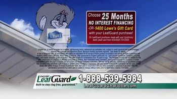 LeafGuard of Charlotte $99 Install Sale TV Spot, 'Mother Nature Never Takes a Day Off' - Thumbnail 6