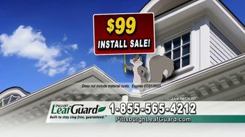 LeafGuard of Pittsburgh $99 Install Sale TV Spot, 'Mother Nature Never Takes a Day Off'