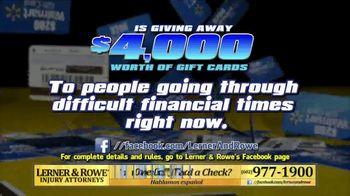 Lerner and Rowe Injury Attorneys TV Spot, 'Walmart Gift Card' - Thumbnail 3
