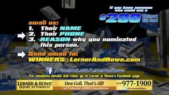 Lerner and Rowe Injury Attorneys TV Spot, 'Walmart Gift Card' - Thumbnail 6