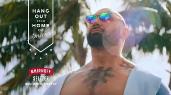 Smirnoff Seltzer TV Spot, 'Hang Out From Home: Dave's Inner Monologue' Featuring Dave Bautista - Thumbnail 7