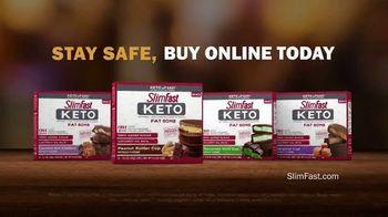 SlimFast Keto Fat Bomb Peanut Butter Cup TV Spot, 'Stay Safe. Buy Online' - Thumbnail 8