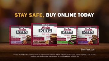 SlimFast Keto Fat Bomb Peanut Butter Cup TV Spot, 'Stay Safe. Buy Online' - Thumbnail 9