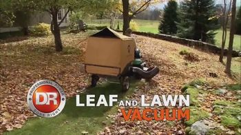 DR Leaf and Lawn Vacuum TV Spot, \'Inhales Everything\'