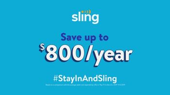 Sling TV Spot, 'Stay In and Sling' - Thumbnail 9