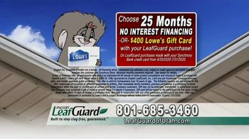LeafGuard of Utah $99 Install Sale TV Spot, 'Breeding Ground' - Thumbnail 5
