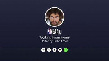 NBA App TV Spot, 'Working From Home' Featuring Robin Lopez - Thumbnail 1