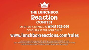 King's Hawaiian Lunchbox Reaction Contest TV Spot, 'Win a $25,000 Scholarship for Your Child' - Thumbnail 4