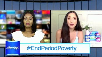 Always TV Spot, 'End Period Poverty: $2 Off' Featuring Nicole Lopez-Alvar - Thumbnail 4