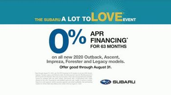 Subaru A Lot to Love Event TV Spot, 'Where the Heart Is' Song by Workman Song [T2] - Thumbnail 9