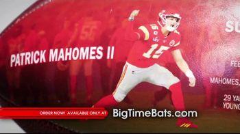 Big Time Bats TV Spot, 'Patrick Mahomes II Super Bowl LIV MVP Art Football' - Thumbnail 2