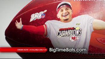 Big Time Bats TV Spot, 'Patrick Mahomes II Super Bowl LIV MVP Art Football' - Thumbnail 3