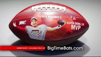 Big Time Bats TV Spot, 'Patrick Mahomes II Super Bowl LIV MVP Art Football'