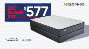 Rooms to Go Mattress Month TV Spot, 'Queen Set: $577'