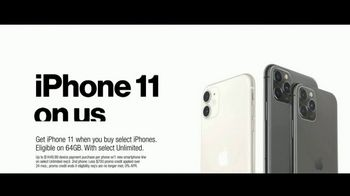 Verizon Unlimited TV Spot, 'Unlimited Built Right: iPhone 11 BOGO' - Thumbnail 6